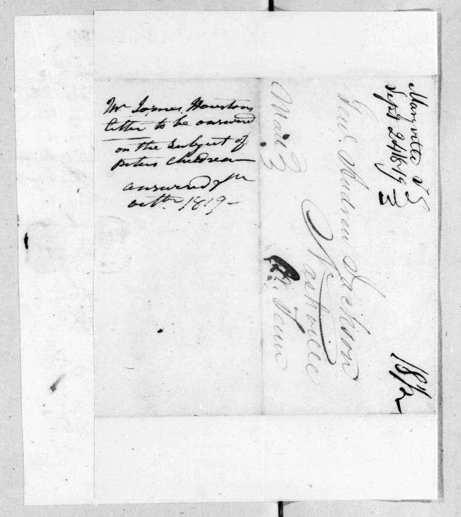 James Houston to Andrew Jackson, September 24, 1819