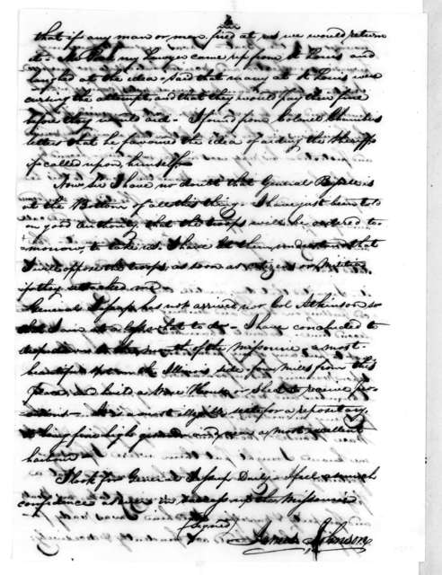 James Johnson to Richard Mentor Johnson, May 23, 1819