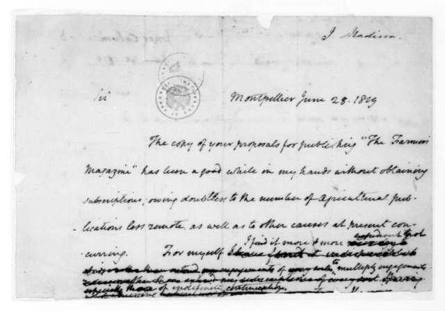 James Madison to Calvin Jones, June 28, 1819. Fragment.