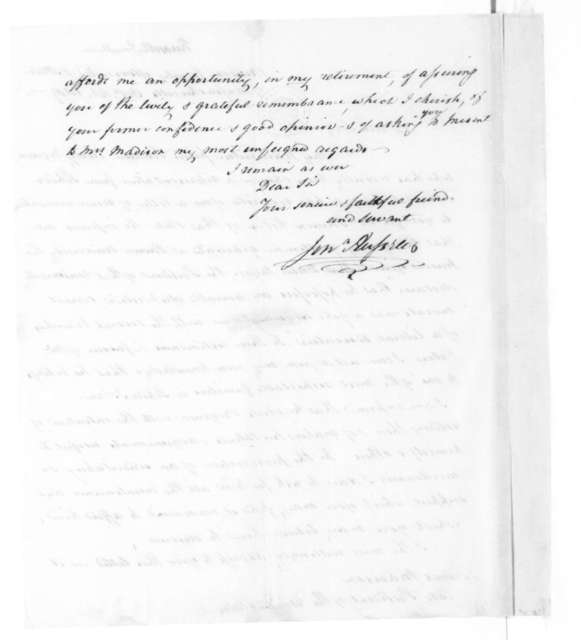 James Madison to Jonathan Russell, October 18, 1819.