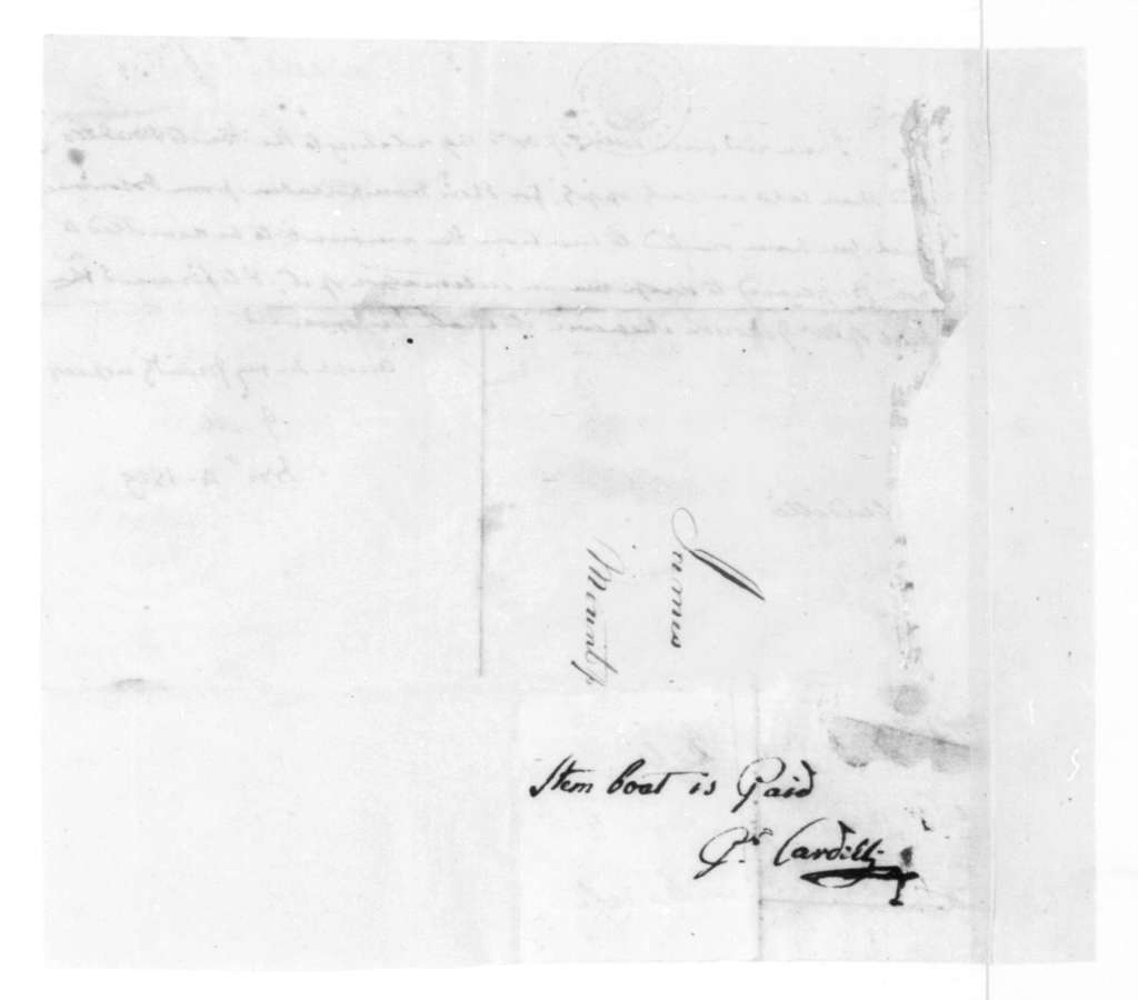 James Madison to Pietro Cardelli, November 4, 1819. With Note.