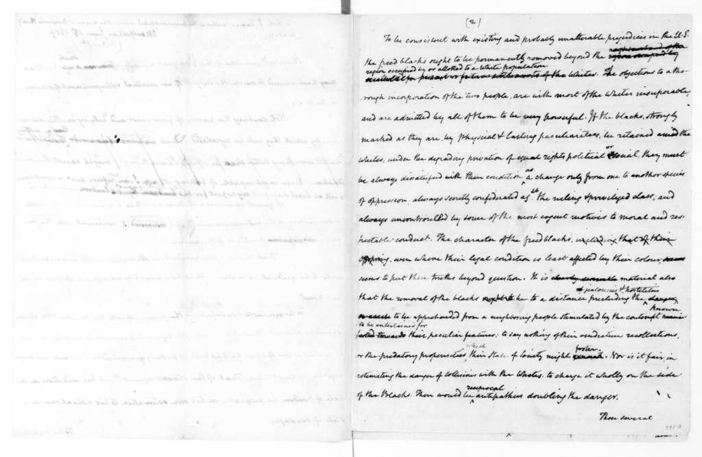 James Madison to Robert I. Evans, June 15, 1819.