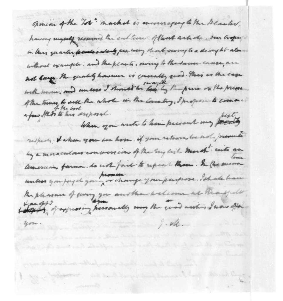 James Madison to William Maury, December 24, 1819.