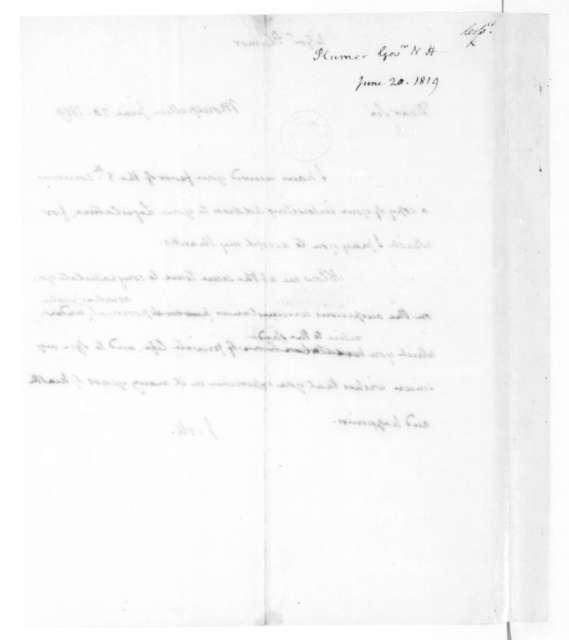 James Madison to William Plumer, June 20, 1819.