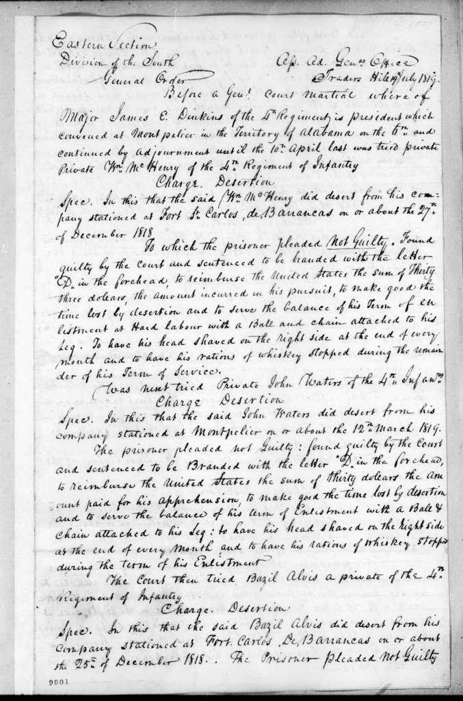 James McMillan Glassell, July 19, 1819