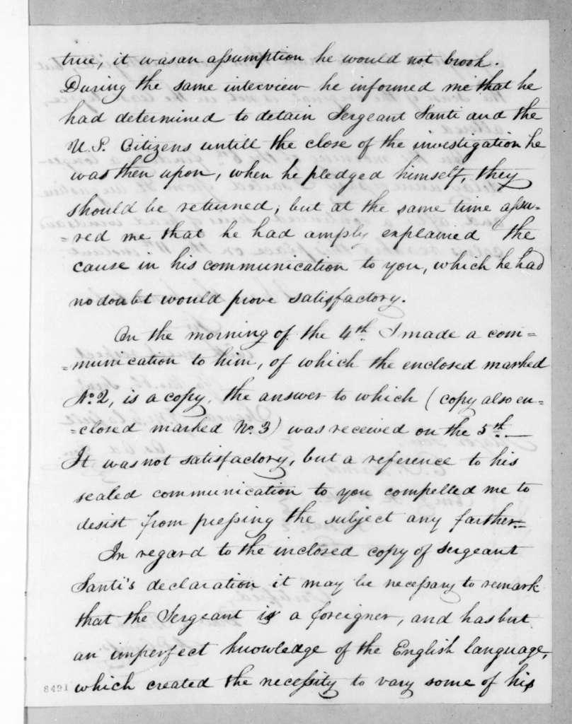 James McMillan Glassell to Edmund Pendleton Gaines, January 12, 1819