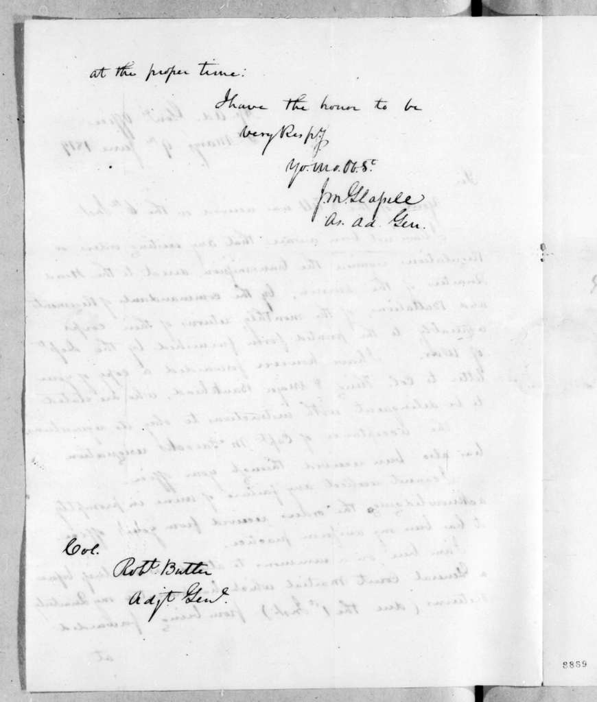 James McMillan Glassell to Robert Butler, June 9, 1819
