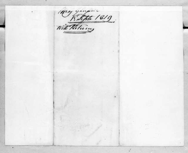 James McMillan Glassell to Robert Butler, September 1, 1819