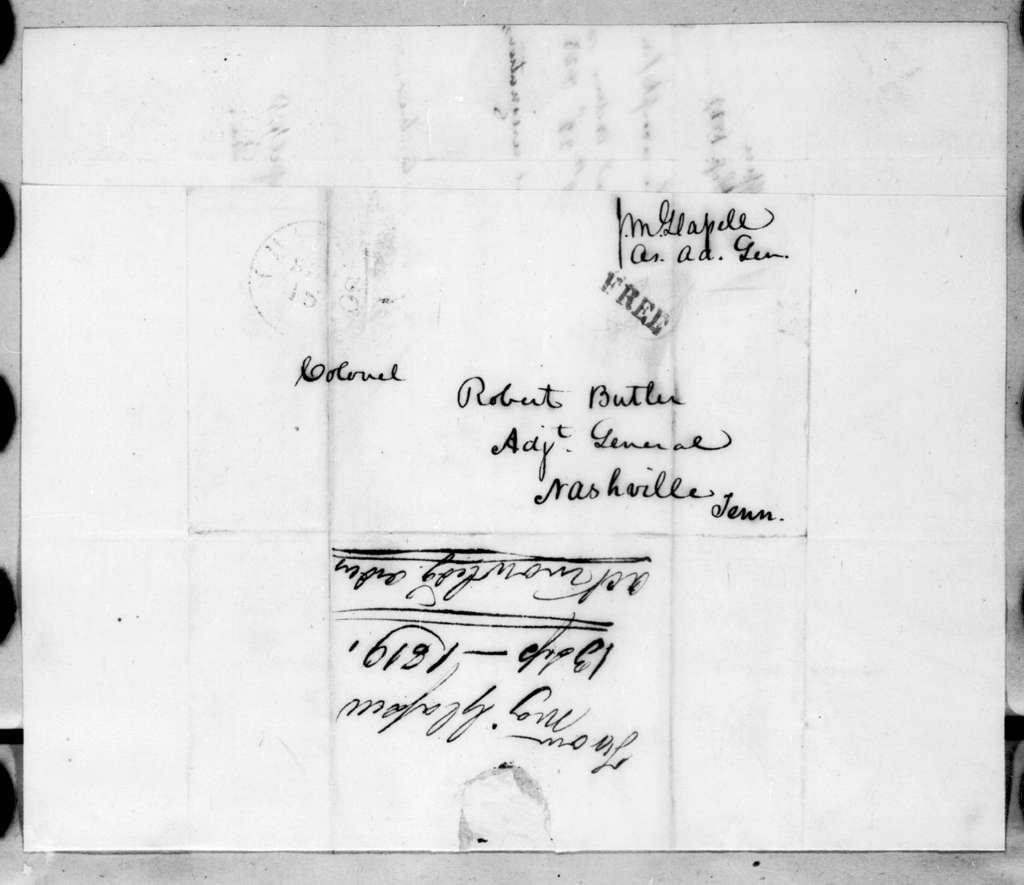 James McMillan Glassell to Robert Butler, September 13, 1819