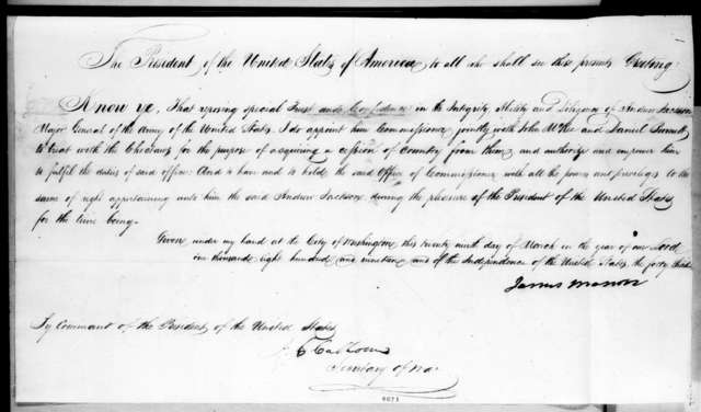 James Monroe to Andrew Jackson, March 29, 1819