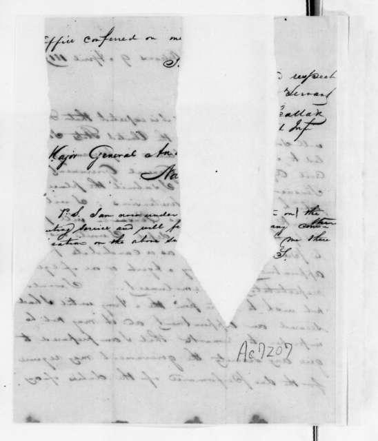 [James] Scallon to Andrew Jackson, April 9, 1819