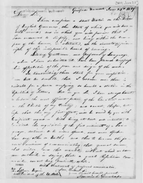 Jeremiah Greenleaf to Thomas Jefferson, June 23, 1819