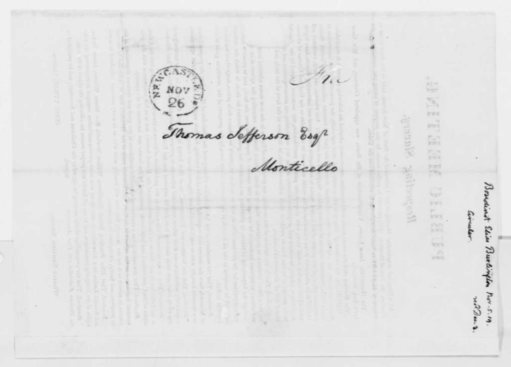 Jesse Upson, October 29, 1819, New Jersey Circular on Slavery Public Meeting