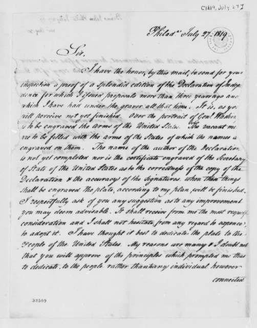 John Binns to Thomas Jefferson, July 27, 1819