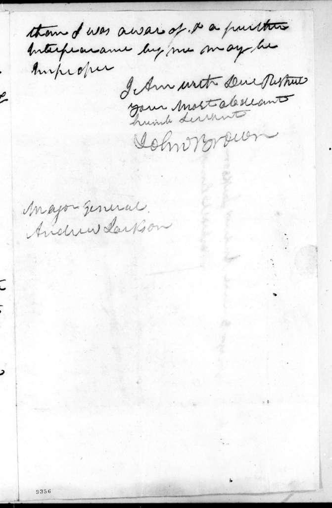John Brown to Andrew Jackson, October 16, 1819