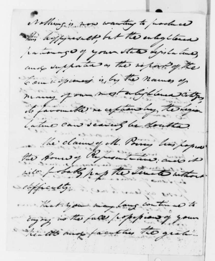 John C. Calhoun to Thomas Jefferson, January 21, 1819