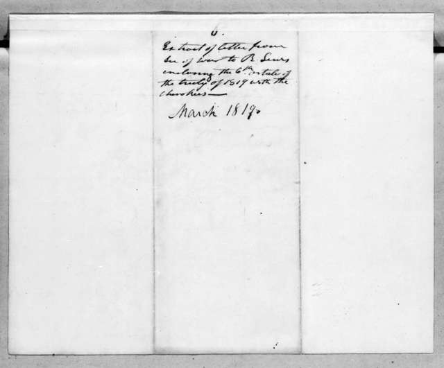 John Caldwell Calhoun to Reuben Lewis, March 9, 1819