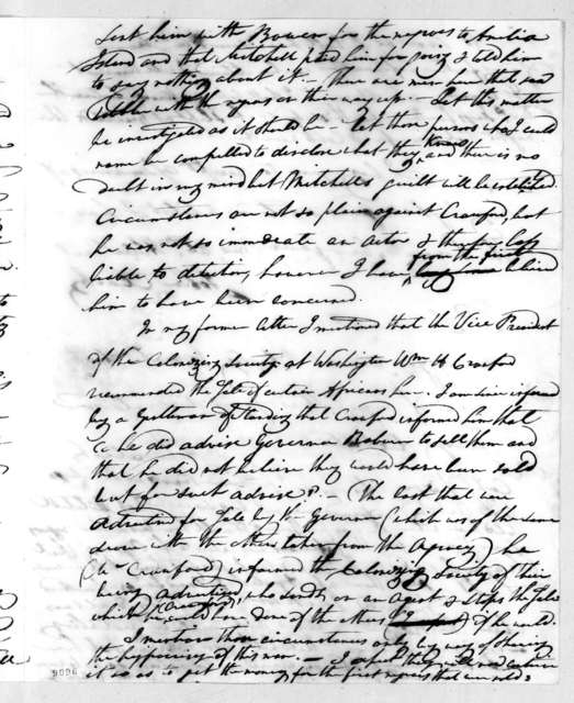 John Clark to Andrew Jackson, August 18, 1819