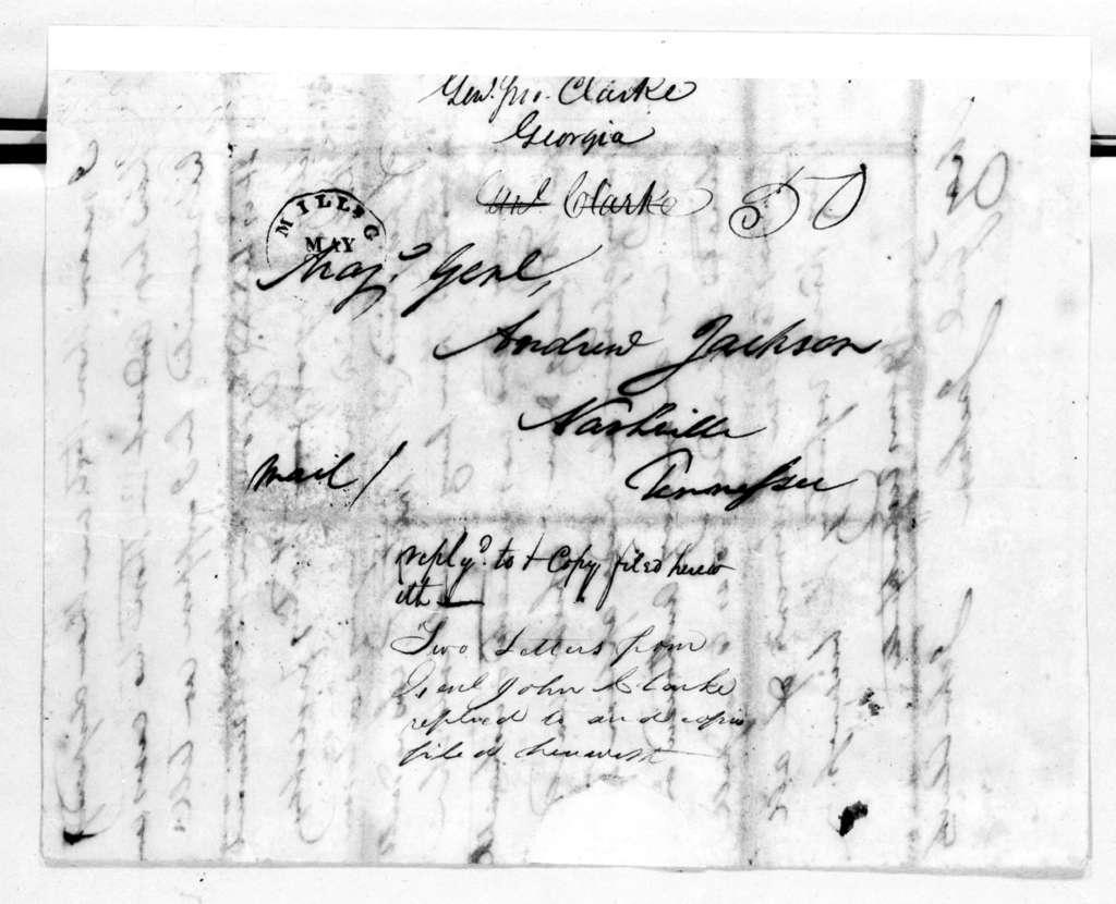 John Clark to Andrew Jackson, May 24, 1819