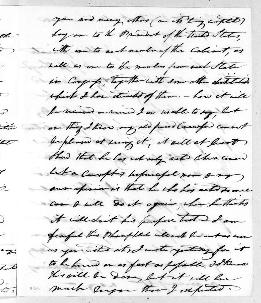 John Clark to Andrew Jackson, November 29, 1819
