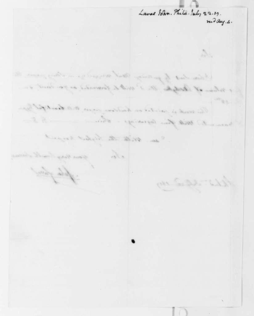 John Laval to Thomas Jefferson, July 22, 1819