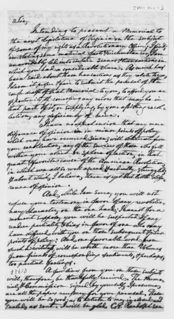 John Nicholas to Thomas Jefferson, November 9, 1819