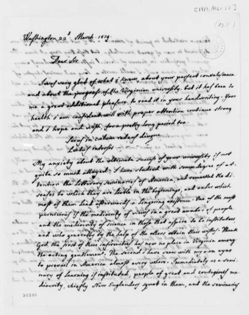 Jose Correa da Serra to Thomas Jefferson, March 22, 1819