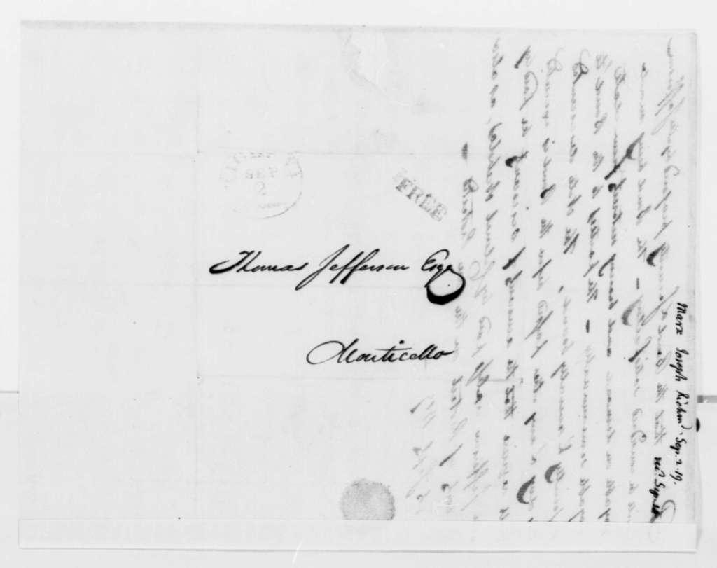 Joseph Marx to Thomas Jefferson, September 2, 1819