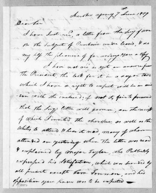 Joseph McMinn to Andrew Jackson, June 7, 1819