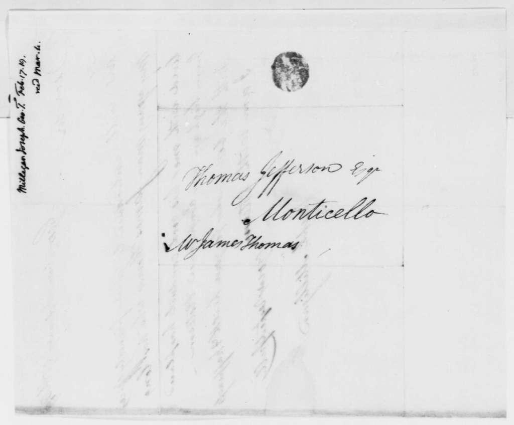 Joseph Milligan to Thomas Jefferson, February 17, 1819, Introduction