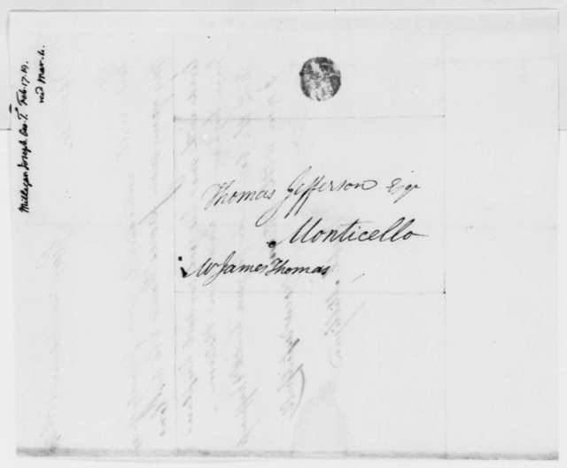 Joseph Milligan to Thomas Jefferson, February 17, 1819, Introduction
