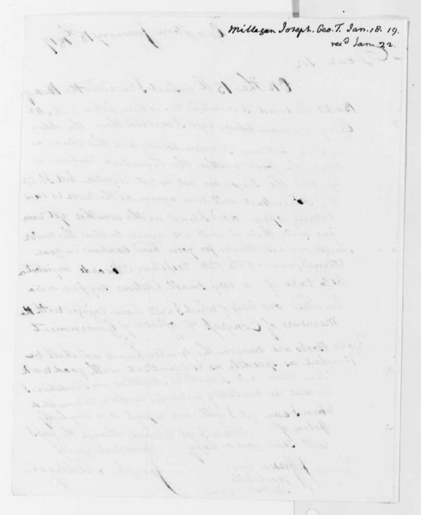 Joseph Milligan to Thomas Jefferson, January 18, 1819