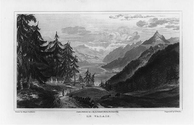 Le Valais / drawn by Major Cockburn ; engraved by R. Wallis.