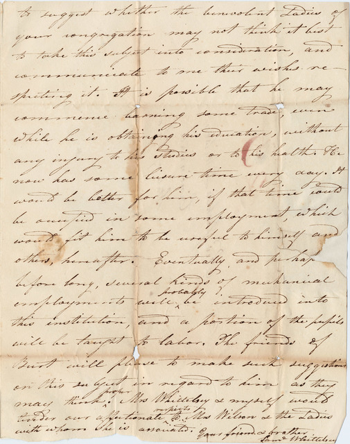 Letter from Samuel Whittelsey to Joshua Lacy Wilson
