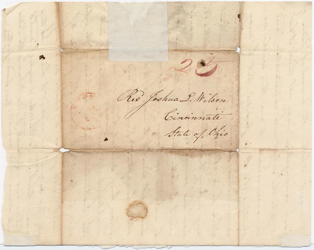 Letter from Samuel Whittelsey to Joshua Lacy Wilson