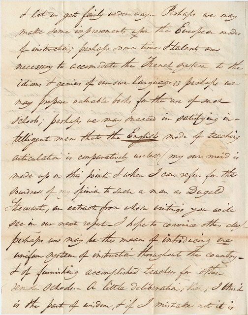 Letter from Thomas Hopkins Gallaudet to Joshua Lacy Wilson