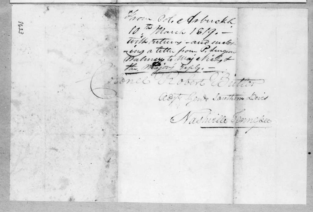 Mathew Arbuckle to Robert Butler, March 10, 1819