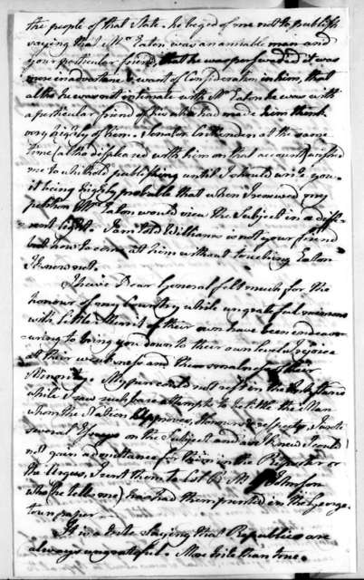 Matthew Lyon to Andrew Jackson, June 8, 1819