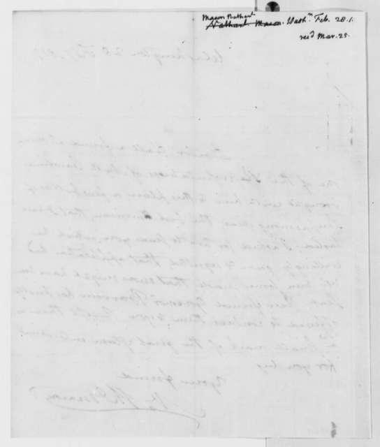 Nathaniel Macon to Thomas Jefferson, February 28, 1819