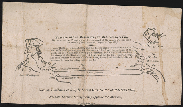 Passage of the Delaware, in Dec. 25th, 1776, by the American troops under the command of General Washington