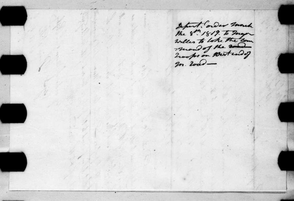 Perrin Willis, March 8, 1819