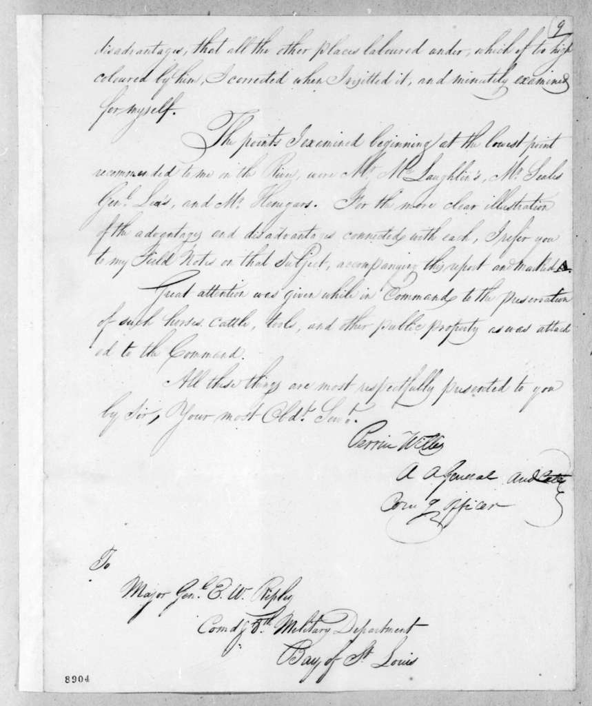 Perrin Willis to Eleazar Wheelock Ripley, June 14, 1819
