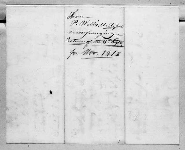 Perrin Willis to Robert Butler, March 14, 1819