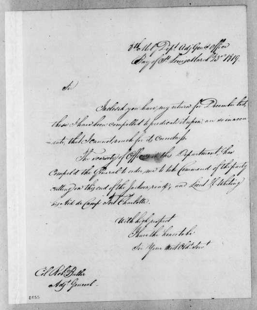Perrin Willis to Robert Butler, March 23, 1819