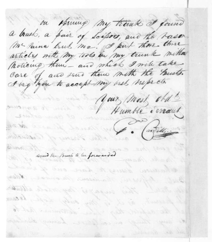 Pietro Cardelli to James Madison, August 19, 1819.