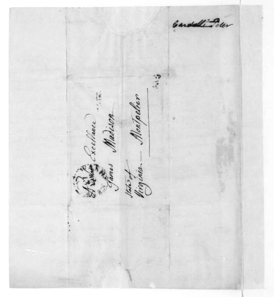 Pietro Cardelli to James Madison, November 11, 1819.