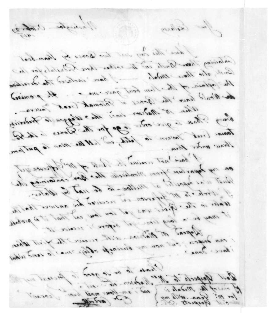 Pietro Cardelli to James Madison, October 29, 1819.