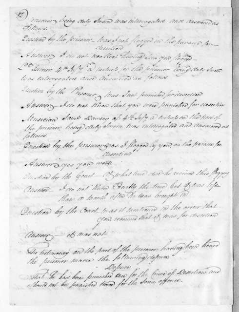 Proceedings of General Court Martial of Beard, Senter, and Daniel Riddle, at Traders Hill Army Headquarters. September 24, 1819