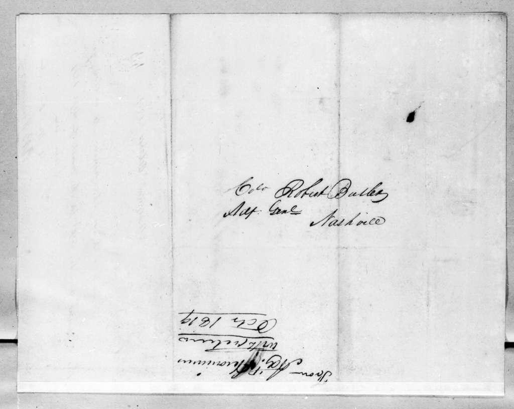 Quin B. Heronimus to Robert Butler, October 10, 1819