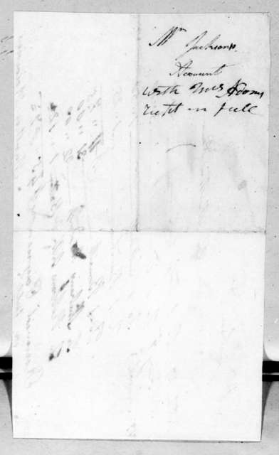 Rachel Donelson Jackson to Martha Adams, March 3, 1819